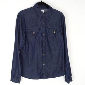 Hudson Dark Denim/Chamray Flap Pocket Long Sleeve